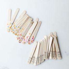Printed Wooden Ice Pop Sticks