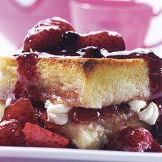 Strawberry Stuffed French Toast Soufflé