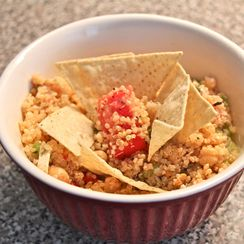 Garden Tomato, Ceci and Black Pepper Feta Quinoa