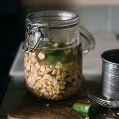 quick pickled spicy hatch sour corn