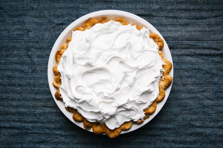 Cream of tartar helps ensure an elastic egg white foam—which can help prevent meringue pie toppers from weeping.