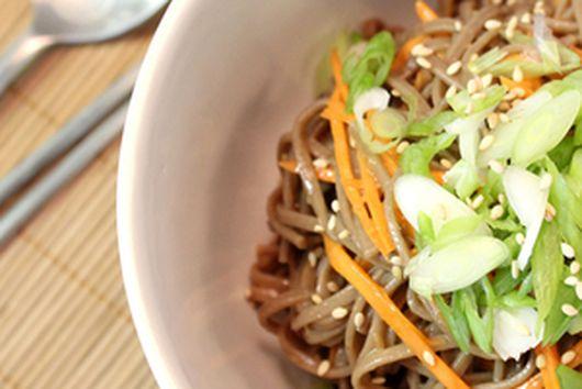 Simple Peanut Sauce Soba Noodle