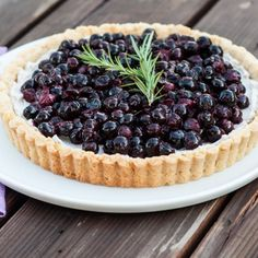 Honeyed Blueberry Tart