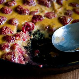 Raspberries in St-Germain Mascarpone Custard
