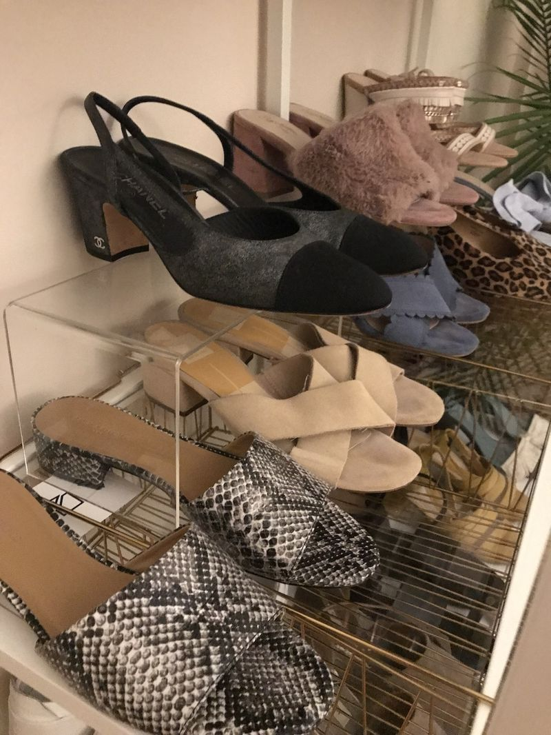 A home for all the pretty shoes.