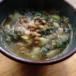 Savory Lentil and Bok Choi Soup
