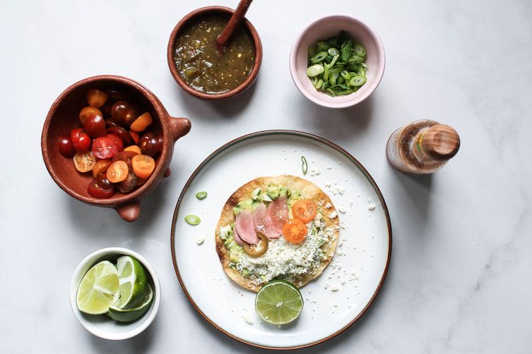 Avocado Egg Salad Tostada + Escabeche