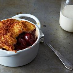 Oozy Cherries Bread and Butter Pudding
