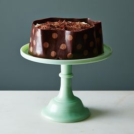 Chocolate-Wrapped Chocolate Cake