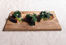 Marinated Greens on Toast