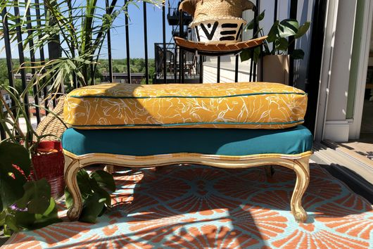 A DIY Ottoman Makeover—With a Twist