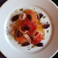 Fennel, Orange, & Olive Salad with a Warm fennel dressing