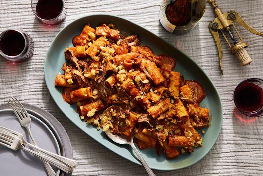 Beef and Fig Ragu with Rye Breadcrumbs