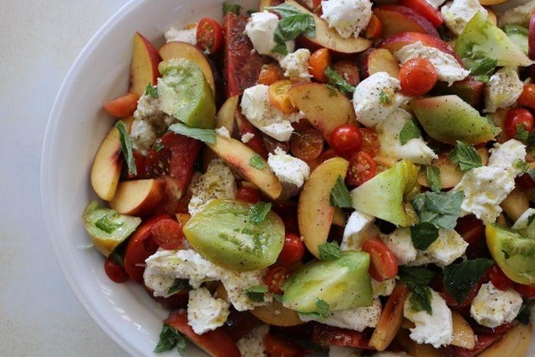 Stone Fruit and Heirloom Tomato Caprese