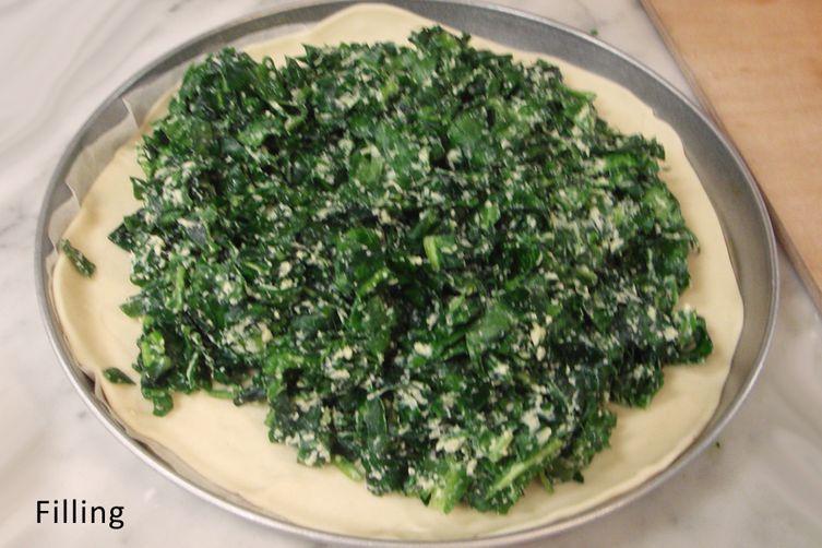 Tuscan Ricotta and Broccoli Rabe Pie - Erbazzone