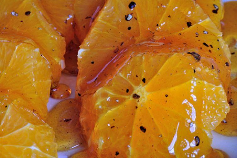 Caramel Oranges with Cardamom