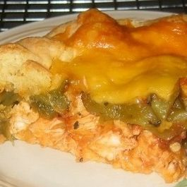 Chicken & Chile Relleno Tart