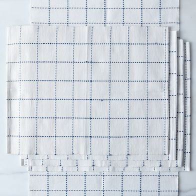 Food52 Blue Windowpane Runner