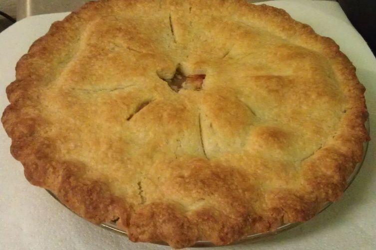 Boozy Grilled Peach Pie