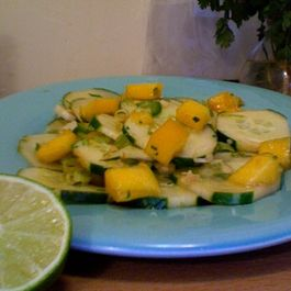 Balanced Senses Cucumber and Mango Salad