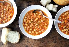 A Pantry-Clearing, Belly-Warming Lentil and Chickpea Soup
