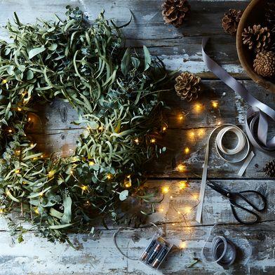 Mixed Eucalyptus Wreath