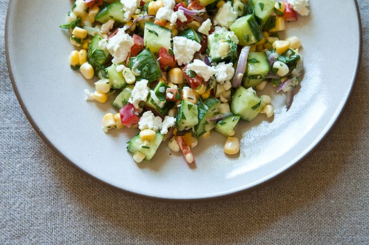 Dilled, Crunchy Sweet Corn Salad with Buttermilk Dressing