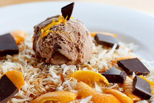 Toasted Coconut, Orange, & Dark Chocolate Ice Cream