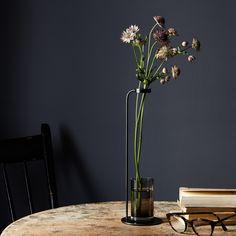 Blackened Brass Stem Vase
