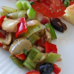 Italian Peppers and Olives