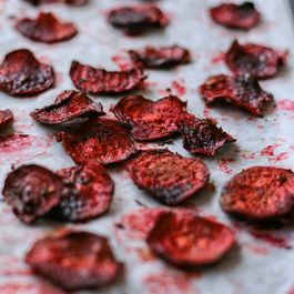 How to make your own beetroot crisps.