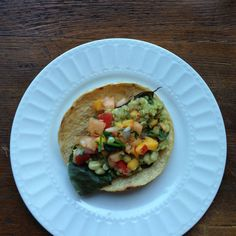 Quinoacado Tacos with Charred Corn and Fruit Salsa