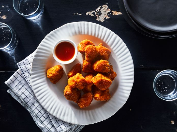 Crunchy Cornflake Chicken Nuggets With a Secret Ingredient That Keeps Them Juicy