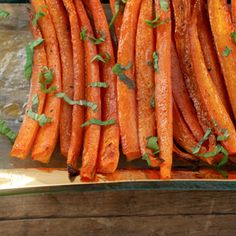 Spice Roasted Carrots with Pomegranate Molasses