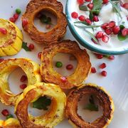 49f16821 8373 4b53 a8b8 e7ce9a2d7ae5  roasted delicata squash rings with herbed yogurt 17