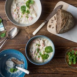Salmon Chowder with Celeriac and Tarragon