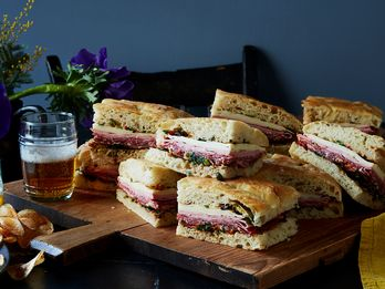 This Oversized Focaccia Muffuletta Is Ready for Mardi Gras
