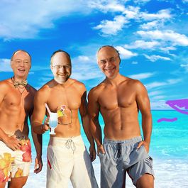 Kimball, Parsons, Bittman Spotted on a Beach in Paradise