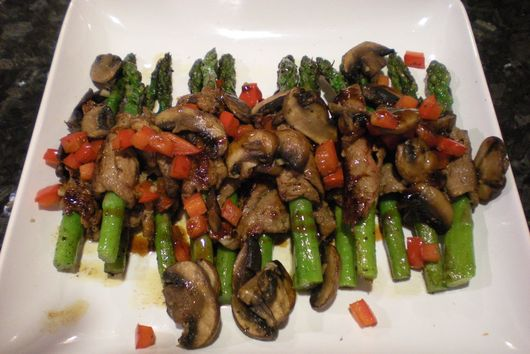 Filet Wrapped Asparagus with Char Siu Sauce