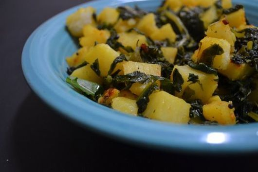 Sauteed potato & greens