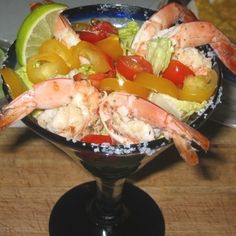 Grilled Margarita Shrimp Cocktail