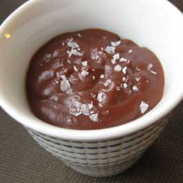 Cinnamon Chocolate Pudding with Sea Salt