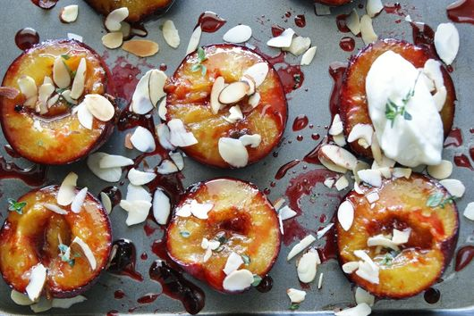 Roasted cinnamon plums