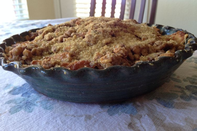 Open-Faced Deep Dish Apple Pie