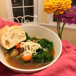 Spicy Sausage & Kale Soup
