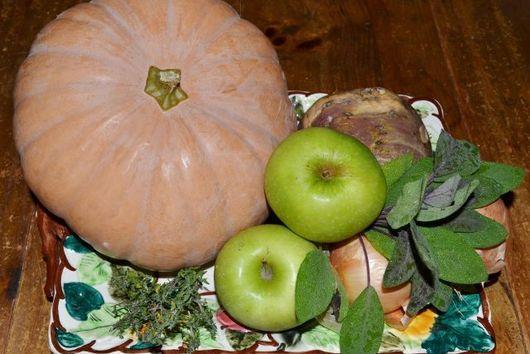 Roasted Pumpkin Soup with Caramelized Walnut Garnish