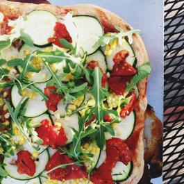 Summertime Vegan Farmer's Pizza