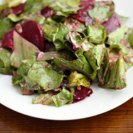 Beet & Lettuce Salad with Green Onion Vinaigrette