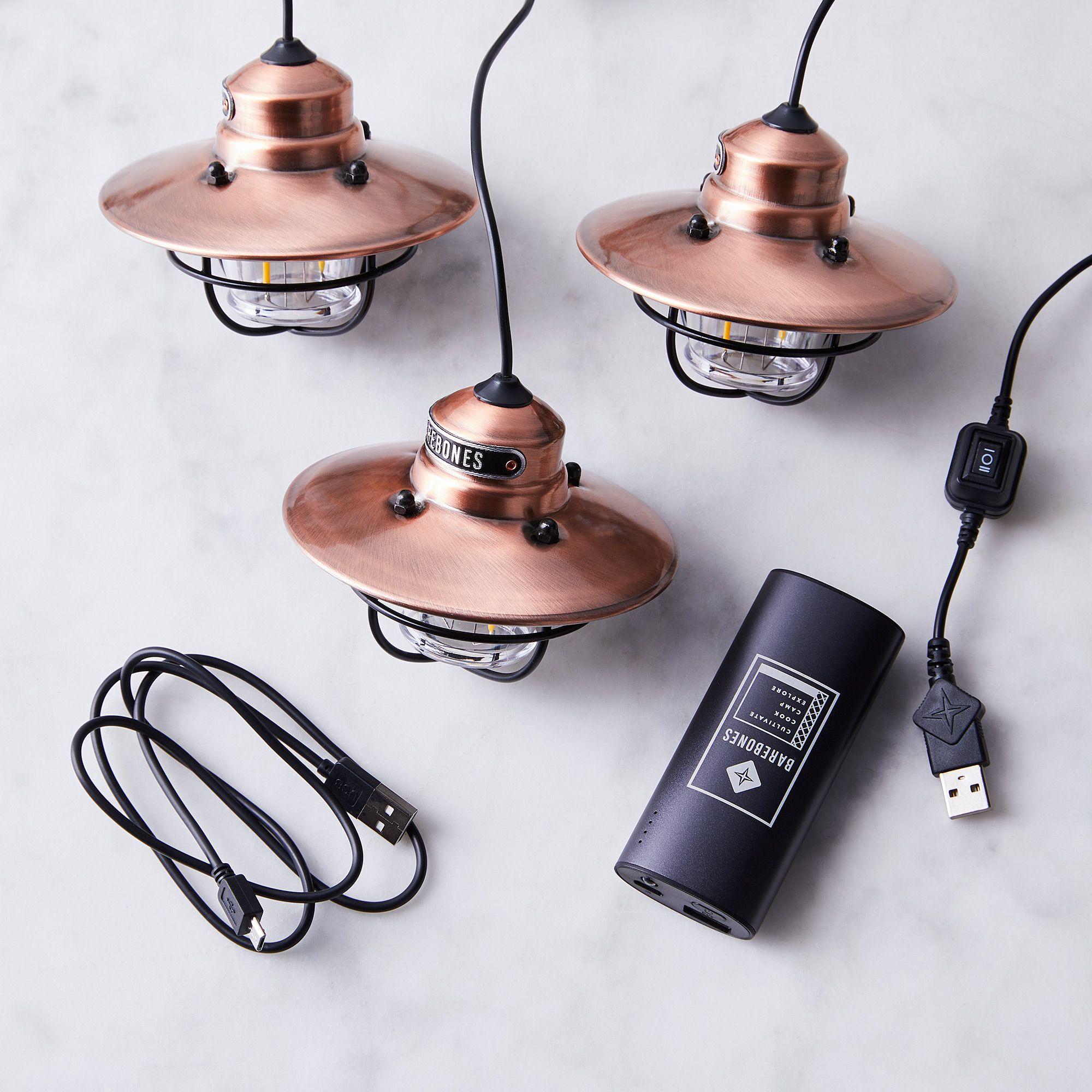 Barebones Livingbarebones Living Edison String And Pendant Light String Light Portable Charger Copper Dailymail