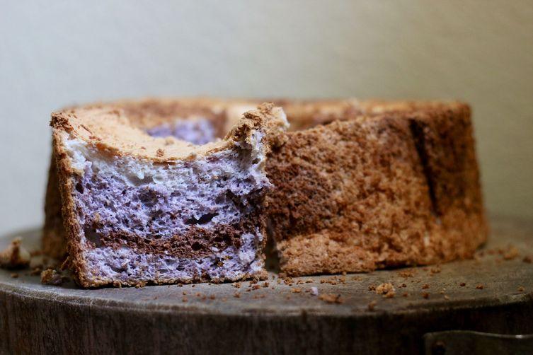 Tricolored Angel Food Cake